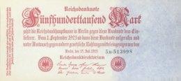 Germany 500.000 Mark, DEU-103b/Ro.91b (1923) - UNC - 1918-1933: Weimarer Republik