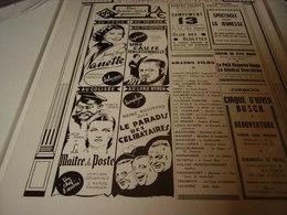 ANCIENNE PUBLICATION PROGRAMME SPECTACLE DE PARIS 1940 - Publicidad