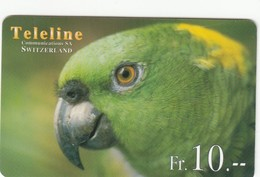 Telecarte SUISSE TELELINE - OISEAU - PERROQUET - Parrots