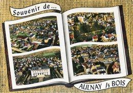 CPSM Dentelée - AULNAY-sous-BOIS (93) - Carte De Multi-vues Aériennes Au Livre Ouvert Où Album-photos Ouvert De 1960 - Aulnay Sous Bois
