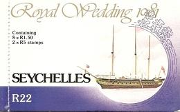 SEYCHELLES, 1981, Booklet 11, Royal Wedding - Seychelles (1976-...)