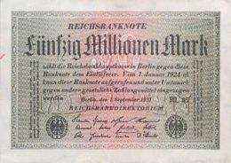 Germany 50.000.000 Mark, DEU-123g/Ro.108d (1923) - EF/XF - [ 3] 1918-1933: Weimarrepubliek
