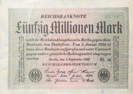 Germany 50.000.000 Mark, DEU-123g/Ro.108d (1923) - Very Fine - [ 3] 1918-1933 : Repubblica  Di Weimar