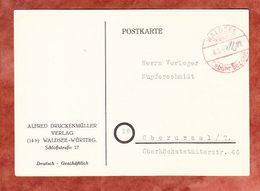 Karte, OT Gebuehr Bezahlt Mit Hds Eintrag 12 Pfg, Waldsee Nach Oberursel 1947 (58466) - Zone Française