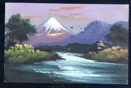 GIAPPONE - JAPAN - 1935 MOUNT FUJI ? - DIPINTA A MANO - PEINTE A LA MAIN - PANTED BY HAND - Giappone