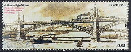 2008 - PORTOGALLO / PORTUGAL - PROGETTO FERROVIARIO SUL RIO TEJO / RAILWAY PROJECT ON THE RIO TEJO. USATO - 1910 - ... Repubblica