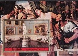 Ajman 1972 Musei Pitti Galleria Palatina Canova Venere Italica S. Del Piombo Martirio Di Sant'Agata Perf. CTO - Museen
