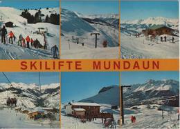 Skilifte Mundaun - Lift Sasolas, Lift Mundaun, Gipfel-Restaurant, Talstation Valata, Restaurant Cuolm-Sura, Lift Plitsch - GR Grisons