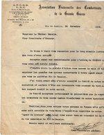 VP13.062  RIO DE JANEIRO 1924 - Lettre - Association Fraternelle Des Combattants De La Grande Guerre Pour Le Gal GAMELIN - Documenti