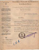 VP13.063  RIO DE JANEIRO 1921 - Lettre - Association Fraternelle Des Combattants De La Grande Guerre Pour Le Gal GAMELIN - Documents