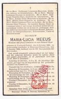 DP Maria L. Meeus ° Kortrijk-Dutsel Holsbeek 1865 † Blauwput Kessel-Lo 1936 X J. Lemmens Xx E. Otzer / Meurrens Heyman - Imágenes Religiosas