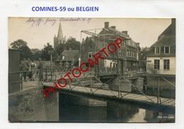 COMINES-KOMEN-CARTE PHOTO Allemande-Guerre-14-18-1WK-BELGIEN Ou FRANCE-59- - Komen-Waasten