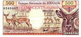 Rwanda P.13  500 Francs 1978 Unc - Rwanda