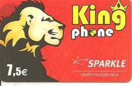 CARTE-PREPAYEE-SPARKLE-7. 5 €;--KINGPHONE-LION-31/12/2007-R° BRILLANT-V°Code Sur Fond Blanc-TBE - Autres Prépayées