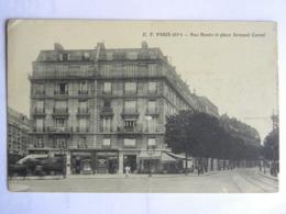 CPA 75019 - PARIS - Rue Manin Et Place Armand Carrel - Arrondissement: 19