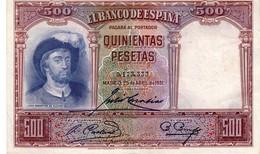 Spain P.84  500 Pesetas 1931 Au - [ 2] 1931-1936 : Republic