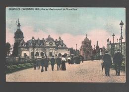 Brussel / Bruxelles Exposition 1910 - Vue Du Restaurant Du Chien Vert - Wereldtentoonstellingen