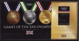 Tuvalu 2012, Olympic London, Sheetlet + Block Imperforated RARE - Summer 2012: London