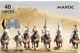 CARTEaPUCE-MAROC-40U-SC7-FANTASIA-V° Téleboutique-V° CLUB MED AL HOUCEIMA-UTIL-TBE - Morocco