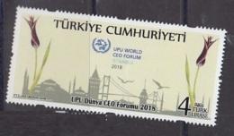 3.- TURKEY 2018 UPU WORLD CEO FORUM 2018 - Unused Stamps