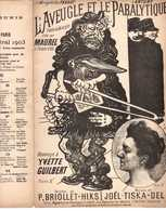 CAF CONC HUMOUR YVETTE GUILBERT PARTITION L'AVEUGLE ET LE PARALYTIQUE BRIOLLET HIKS JOËL TISKA 1897 ILL MAUREL ANTONY - Music & Instruments