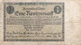 Germany 1 Rentenmark, DEU-199a/Ro.154a (1923) - Fine - [ 3] 1918-1933 : República De Weimar