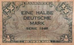 Germany West 1/2 Mark, WBZ-1/Ro.230 (1948) - Very Fine - [ 7] 1949-… : RFA - Rep. Fed. De Alemania