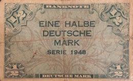 Germany West 1/2 Mark, WBZ-1/Ro.230 (1948) - Fine - [ 7] 1949-… : RFA - Rep. Fed. De Alemania
