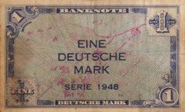 Germany West 1 Mark, WBZ-2/Ro.232 (1948) - Fine - [ 7] 1949-… : RFA - Rep. Fed. De Alemania