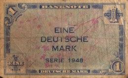 Germany West 1 Mark, WBZ-2/Ro.232 (1948) - Very Good - [ 7] 1949-… : RFA - Rep. Fed. De Alemania