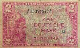 Germany West 2 Mark, WBZ-3a/Ro.234a (1948) - Fine - 2 Deutsche Mark