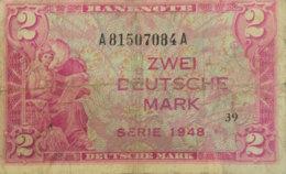 Germany West 2 Mark, WBZ-3a/Ro.234a (1948) - Very Good - 2 Deutsche Mark