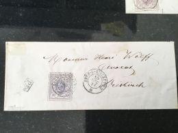 Luxembourg Lettre Avec No 17 Esch Sur Alzette - 1859-1880 Armoiries