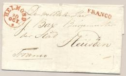 Nederland - 1838 - HELMOND + FRANCO Op Omslag Naar Heusden - Niederlande