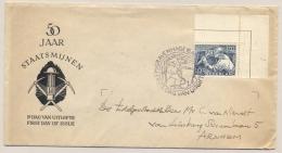 Nederland - 1952 - 10 Cent Staatsmijnen, Hoekstuk Op FDC Naar Arnhem - 1949-1980 (Juliana)