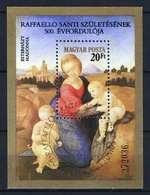 Hungary 1983. Rafaello Paintings Nice Sheet - Used CTO Cancelling Michel: Block 164A / 5.50 EUR - Hungary