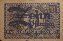 Germany West 10 Pfennig, WBZ-12a/Ro.251a (1948) - Fine - [ 7] 1949-… : RFD - Rep. Fed. Duitsland