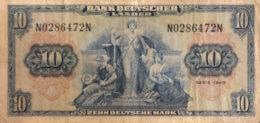 Germany West 10 Deutsche Mark, BRD-4/Ro.258 (Serie N/N) - Fine - [ 7] 1949-… : RFA - Rep. Fed. Tedesca