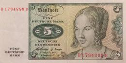 Germany West 5 Deutsche Mark, BRD-6e/Ro.262e (Serie B/B) - EF/XF - [ 7] 1949-… : RFA - Rep. Fed. De Alemania