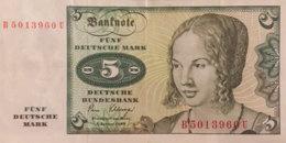 Germany West 5 Deutsche Mark, BRD-29/Ro.285a (1980) - EF/XF - [ 7] 1949-… : RFA - Rep. Fed. De Alemania