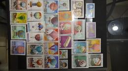Belles Thématiques Sur Les Avions, Ballons, Trains ... - Timbres