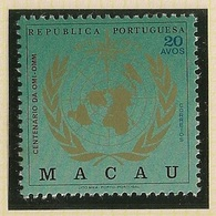Macau Portugal China Chine 1973 - Centenário OMI OMM Organização Meteorológica Mundial - Anniversary Of WMO - MNH/Neuf - Macau