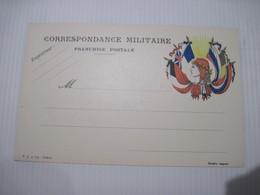 CPA Correspondance Militaire Franchise Postale T.B.E. - Patriotiques