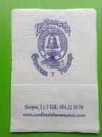 Servilleta,serviette .La Campana,Confeiteria,Pasteleria.Sevilha - Company Logo Napkins