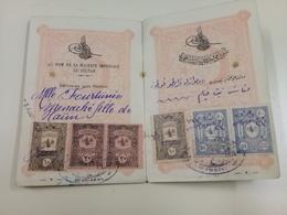 PASSPORT EMPIRE OTTOMAN DE1920 AVEC TIMBRES TAXES  -B38 - 1858-1921 Impero Ottomano