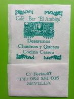 Servilleta,serviette.Café- Bar  El Ambigu. Sevilha - Serviettes Publicitaires