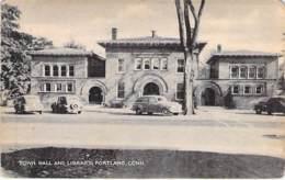 USA Etats-Unis ( CT CONNECTICUT ) PORTLAND : Town Hall And Library - CPA - North America - Amérique Du Nord - Etats-Unis