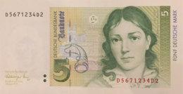 Germany West 5 Deutsche Mark, BRD-40/Ro.296a (1991) - UNC - [ 7] 1949-… : RFA - Rep. Fed. De Alemania