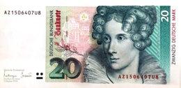 Germany West 20 Deutsche Mark, BRD-48/Ro.304a (1993) - AU - 20 Deutsche Mark