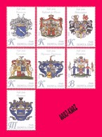 TRANSNISTRIA 2018 Heraldry Coats Of Arms Crests Of Outstanding Noble & Princely Families Of Russia Empire 7v MNH - Stamps